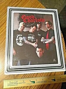 Good Charlotte band picture from fair, or carnival. In original frame, 2003 RARE