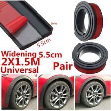 2PCS Car Fender Flares Protection Wheel Extension Strip Rubber Black 150x5.5cm