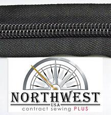 Genuine YKK Nylon Coil Zipper Tape # 10 - 5 yards Black. car, boat & Jeep repair