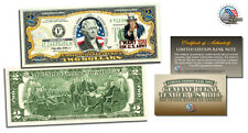 $ 2 USA ARMY UNCLE SAM * COLORIZED 2 DOLLAR BILL*LEGAL TENDER USA GIFT CURRENCY