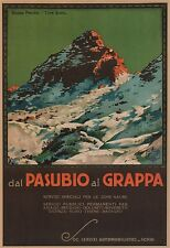 DAL PASUBIO AL GRAPPA Vintage Italian Travel Poster Rolled CANVAS PRINT 24x32 in