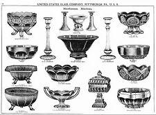 US Glass Co pressed & blown glassware catalog 1926