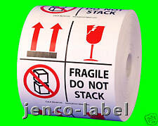 ML44103, 500 4x4 This Side Up,Fragile Do Not Stack label