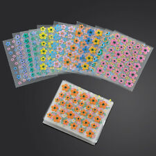 50 Sheets Nail Art Transfer Stickers 3D Decoration Colorful Flower Decals Tips