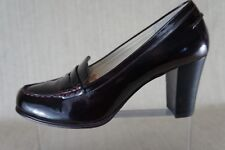 Michael Kors 'Bayville' Loafer Pump Dark Burgundy Patent Leather Size 9M .