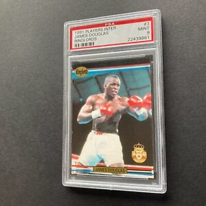 James Buster Douglas 1991 Players International Ringlords #3 Rookie Card PSA 9