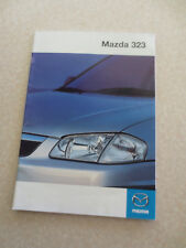 1999 Mazda 323 car advertising booklet