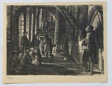 1955 René-Jean CLOT Lithographie originale en noir 1/200 Le Passage Enfer