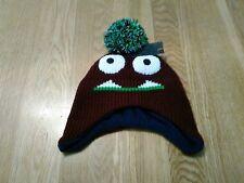 BNWT RJM funky monster design bobble hat, fleece lined. Small 12 m+ 1-3y