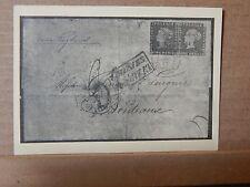 1937 German Tag Der Briefmark postcard 1937 Hamburg postmark .