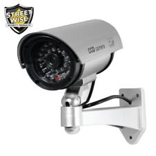 Indoor/Outdoor Dummy Decoy Security Camera with Flashing Led Light - Silver