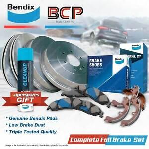 Front+Rear BCP Brake Rotors Drums Bendix Pads Shoes for Nissan Nomad C22