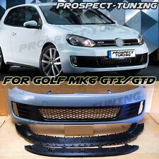NEW VW GOLF MK6 GTI GTD STYLE FRONT BUMPER & FRONT SPLITTER PP ABS VOLKSWAGEN