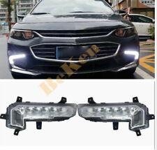 Left + right Front LED Fog Light Driving Lamp FOR Chevrolet Malibu XL 2016-2018