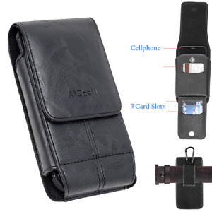 For Iphone 11 Pro ,11 Vertical Leather Wallet Pouch fits Otterbox Lifeproof Case