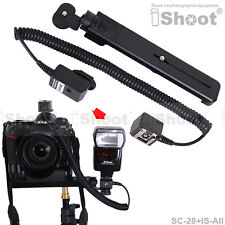 Flash Bracket/Holder&2.5m i-TTL Off-Camera Shoe Cord Cable for Nikon SC-28/SC-29