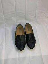 MENS STEVE MADDEN SPIKED FLATS DRIVERS SHOES BLACK SIZE 9