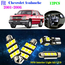 12P 5050 Xenon White 6K Interior Light Kit LED Fit For 2001-2006 Chevy Avalanche