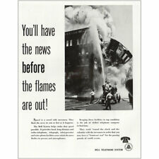 1948 Bell Telephone: Have the News Before the Flames Are Out Vintage Print Ad