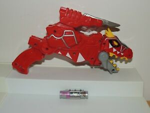 MORPHIN' TIME! Power Rangers Dino Charge Red T-Rex Gun — Works! Great Condition!