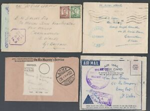 Censor covers + 1 front / Blue released h/s / Blue tape Rhodesia A.B. No8 lilac