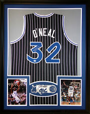 Shaq O'Neal Framed Jersey Signed JSA Autographed Orlando Magic Heat Lakers LSU