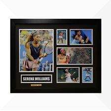 Serena Williams Signed & Framed Memorabilia - Black/Silver Limited Edition