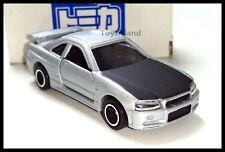 TOMICA NISSAN SKYLINE GT-R R34 1/61 TOMY DIECAST CAR Silver