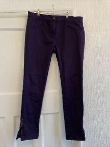 Jasper Conran Purple Skinny Jeans Zip Ankle Size 16