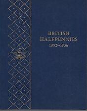 British Halfpennies 1902-1936 Whitman Album NOS