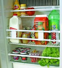 """Rv Refrigerator Accessories Camco 28"""" Double Refrigerator Bar White Protection"""
