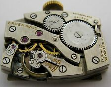 Gruen 325 watch movement  & dial 17 jewels for parts ...
