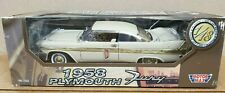 NEW-Motor Max 1958 PLYMOUTH FURY 1:18 RARE BEIGE 73115 728
