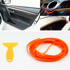 5M Orange Flexible Car Styling Interior Molding Trim Decor Strip Line Gap Filler