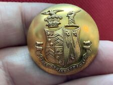 Butler Family Coat Of Arms w Dual Crest 30mm Gilt Livery Button Firmin 1852-75