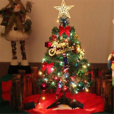 Pre Lit Tabletop Christmas Pine Tree Xmas Mini Small Trees Decoration 60cm Gift