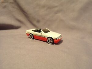 Hot Wheels Mercedes 500SL White Convertible SUPER SHARP CAR FAST 1989 MATTEL