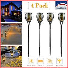 4 Pack Solar Torch Light Dancing Flickering Flame 96 LED Garden Lamp Waterproof
