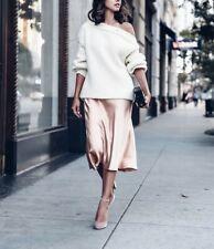 NWT Vince Satin Midi Slip Skirt, Tulip Size M $245
