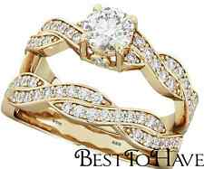 925 Silver Ladies 2 Piece Wedding Engagement Cushion Cut Halo Bridal Ring Set K Sterling Silver