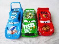 Mattel Disney Pixar Car 3pcs McQueen/King/Chick Hicks Metal Toy Car Loose