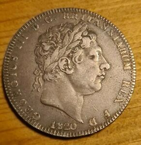 George III Silver Crown 1820 High Grade lovely coin with lustre