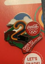 Coca Cola Coke London 2012 Olympics Pin Badge 2 Days To Go Equestrian Horses