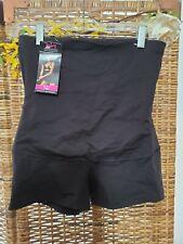 New Maidenform Firm High Waist Boy Short Black Sz XL