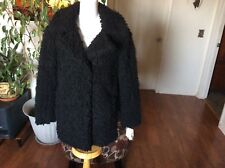 Celebrity Pink Women's Faux Fur Black Coat Size M NWT