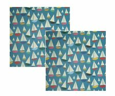 2 Sheets Sail Boats Wrapping Paper