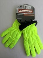 Gordini Womens Neon Yellow Gloves NWT Touch Screen Water Resistant Light Small