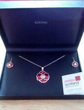 0b243c7b7 Ortak sterling silver poppy necklace and earring set