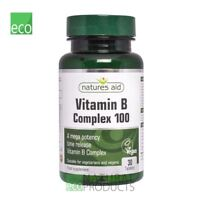 Natures Aid Vitamin B Complex 100 Mega Potency Time Release 30 Tablets