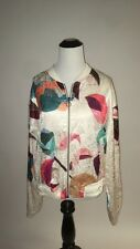 NWT SZ L (Fits M) Anthropologie Geo Bomber By Elevenses Jacket - Lightweight